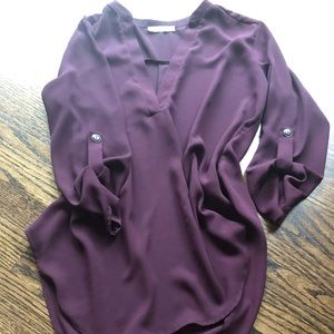 LUSH maroon blouse ➰ EUC